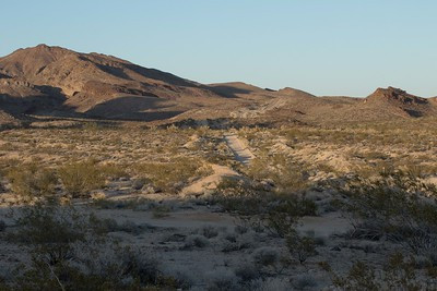 Backroad off Route 66, California desert west of Needles