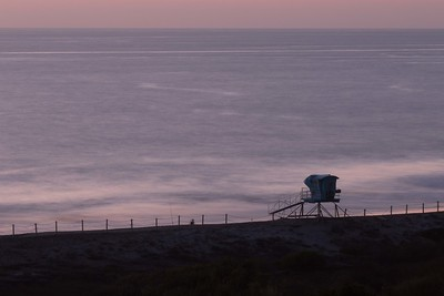 Lone fisherman and the Pacific after sundown.  South Ponto Beach, Carlsbad, CA 2/17/2015