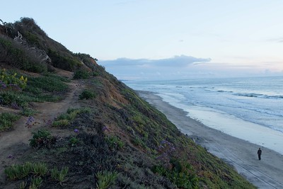 Bluffs of Leucadia, with the tip of La Jolla in the far distance to the south. 3/02/2015