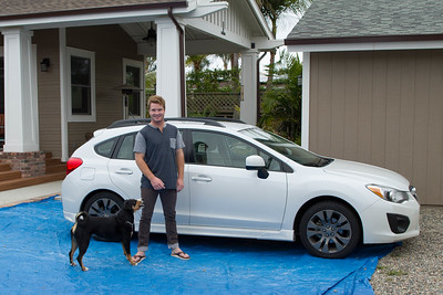 Kendall and his first vehicle acquisition, a used 2012 Subaru Impreza 5/25/2015