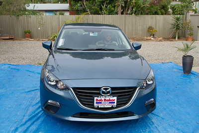 Perry behind the wheel of his new Mazda 3 Hatchback 2015, 5/25/2015