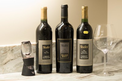 Shafer wines a sampling from 3 decades. 2/28/2015